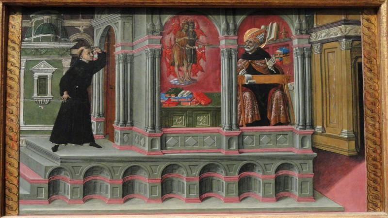 Saint_Augustine's_Vision_of_Saints_Jerome_and_John_the_Baptist,_1476,_by_Matteo_di_Giovanni_-_Art_Institute_of_Chicago_-_DSC09684
